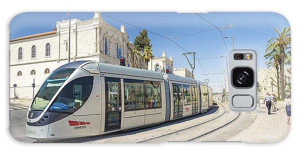 Modern Tram In Central Jerusalem Israel Galaxy Case