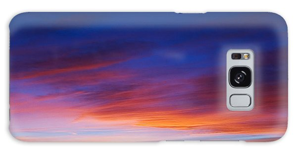 Galaxy Case featuring the photograph Mogollon Rim Afterglow by Brad Brizek
