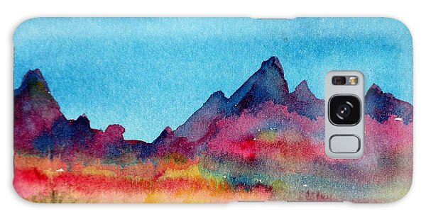 Mohave Mountains Galaxy Case by Anne Duke