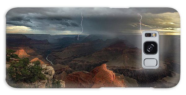 Weathered Galaxy Case - Mohave Point Thunderstorm by John W Dodson