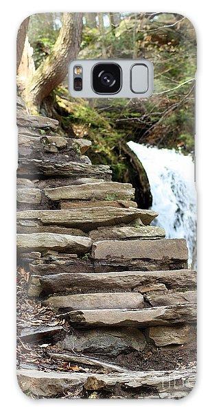 Mohawk Falls Steps Galaxy Case by Patti Whitten
