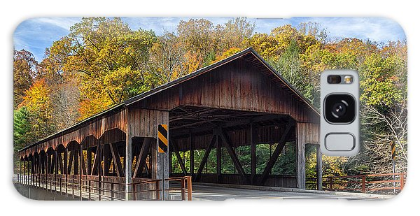 Mohican Covered Bridge Galaxy Case