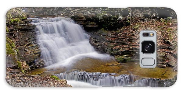 Mohican Falls In Spring Galaxy Case by Shelly Gunderson