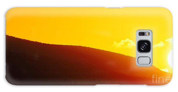 Molokai Sunrise Galaxy Case by Fred  Sheridan
