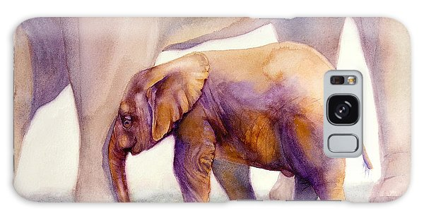 Mom And Baby Boy Elephants Galaxy Case