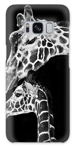 Mom And Baby Giraffe  Galaxy Case by Adam Romanowicz