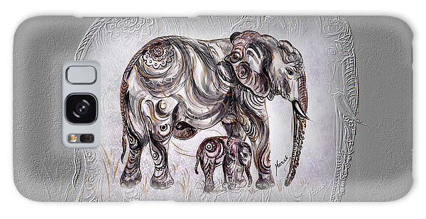 Mom Elephant Galaxy Case