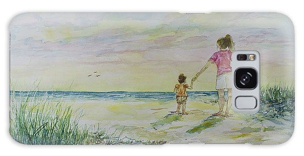 Mommy And Me At The Beach Galaxy Case