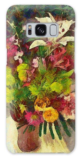 Mom's Flowers Galaxy Case