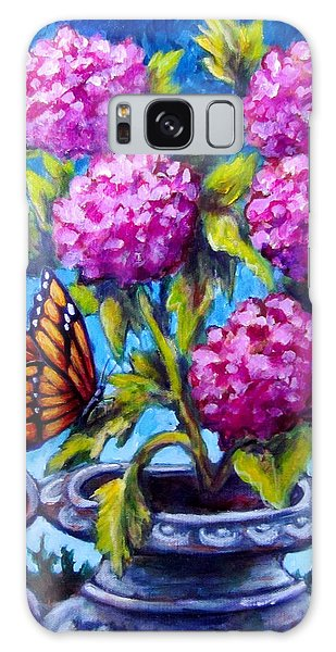 Monarch And Flowers Galaxy Case