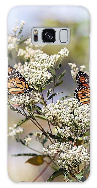 Monarch Butterflies On Milkweed Galaxy Case