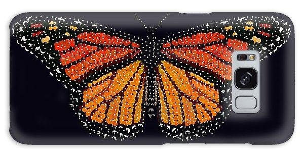 Monarch Butterfly Bedazzled Galaxy Case