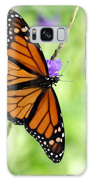 Monarch Butterfly In Spring Galaxy Case