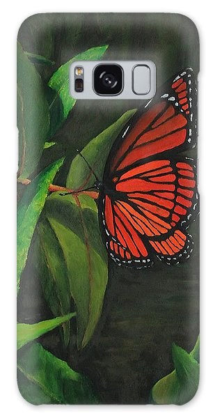 Viceroy Butterfly Oil Painting Galaxy Case