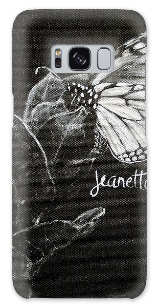 Monarch Butterfly On Milkweed Galaxy Case