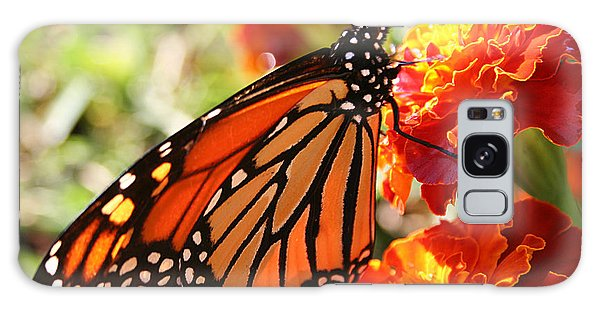 Monarch On Marigold Galaxy Case