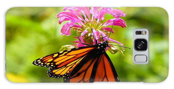 Monarch Under Flower Galaxy Case