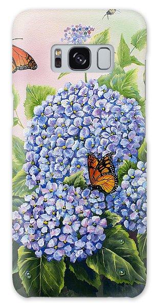 Monarchs And Hydrangeas Galaxy Case