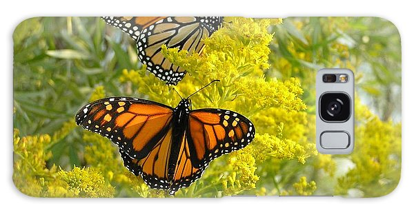 Monarchs On Goldenrod Galaxy Case
