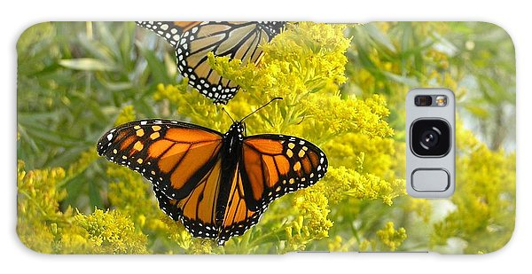 Monarchs On Goldenrod Galaxy Case by Susan  Dimitrakopoulos