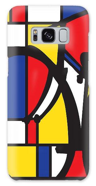 Mondrian Bike Galaxy Case