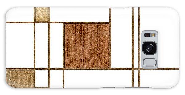 Mondrian In Wood Galaxy Case
