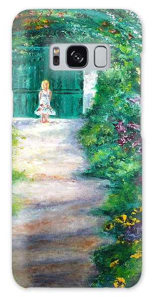 Monet Garden Admirer Galaxy Case