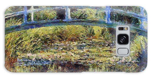 Monet's Bridge Galaxy Case by Dragica  Micki Fortuna