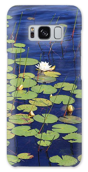 White Water Lilies Galaxy Case