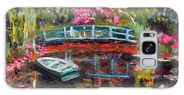 Monet's Green Boat In His Garden Galaxy Case