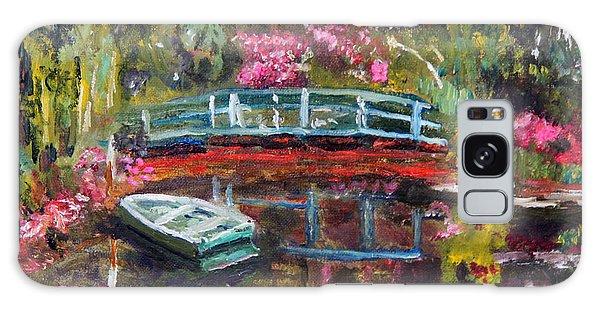 Monet's Green Boat In His Garden Galaxy Case