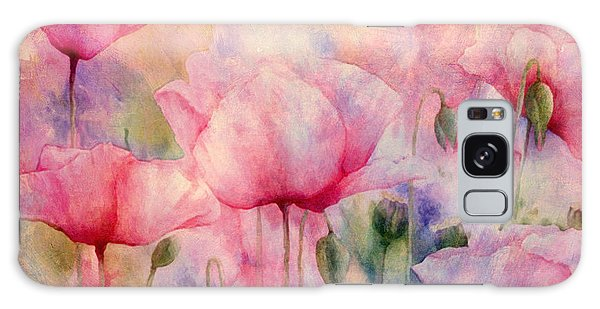 Monet's Poppies Vintage Warmth Galaxy Case