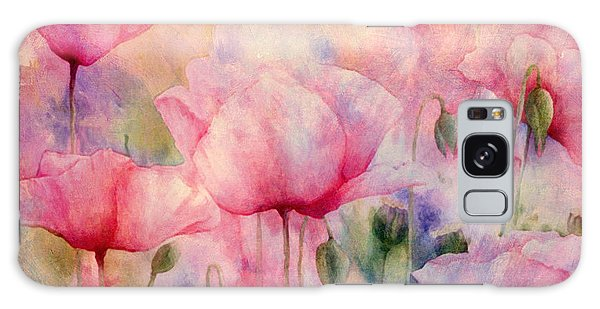 Monet's Poppies Vintage Warmth Galaxy Case