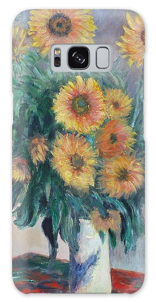 Monet's Sunflowers Galaxy Case