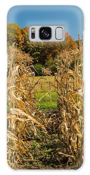 Monks Fall Corn Field Galaxy Case