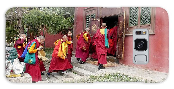 Monks In Mongolia Galaxy Case