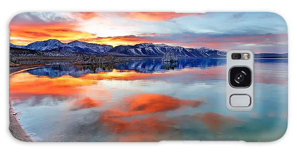 Mono Lake Sunset 3 Galaxy Case