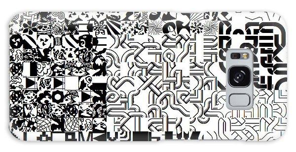 Monochrome Random Glyphs Galaxy Case