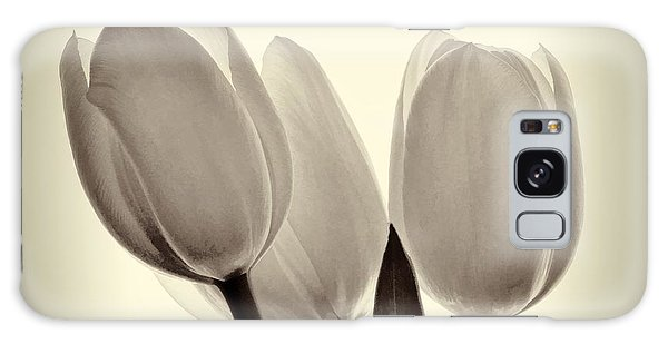 Monochrome Tulips With Vignette Galaxy Case