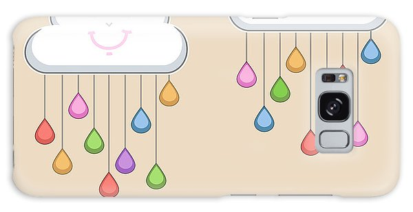 Drop Galaxy Case - Monsoon Season Background With Happy by Allies Interactive