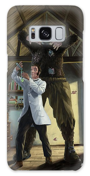 Monster In Victorian Science Laboratory Galaxy Case by Martin Davey