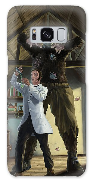 Monster In Victorian Science Laboratory Galaxy Case