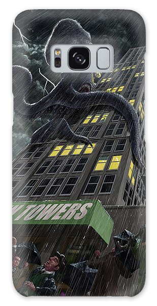 Monster Octopus Attacking Building In Storm Galaxy Case