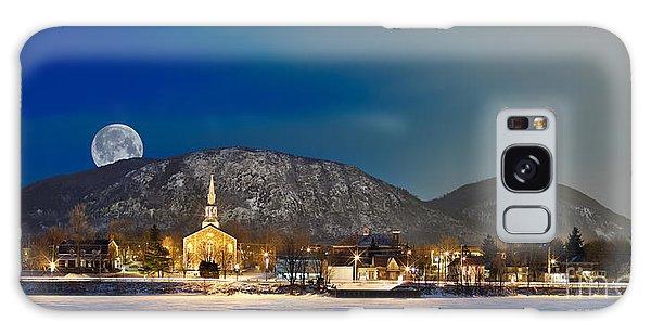 Mont Saint Hilaire Quebec Winter Panorama Galaxy Case