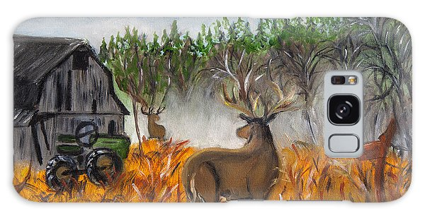 Montana Deer On The Farm Galaxy Case