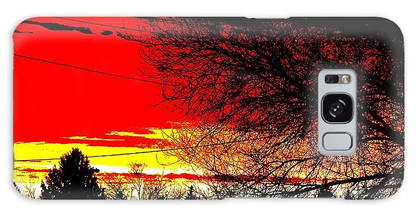 Montana January Sunset Galaxy Case by Aliceann Carlton