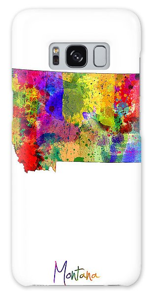 Usa Galaxy Case - Montana Map by Michael Tompsett