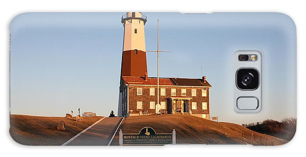 Montauk Lighthouse Entrance Galaxy Case