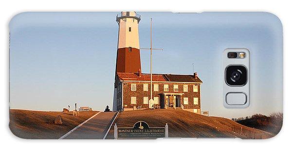 Montauk Lighthouse Entrance Galaxy Case by John Telfer