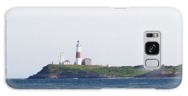 Islands In The Sky Galaxy Case - Montauk Lighthouse From The Atlantic Ocean by John Telfer
